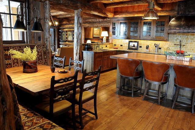 Mountain Lodge Rustic Interior Design in Montana, USA | Founterior