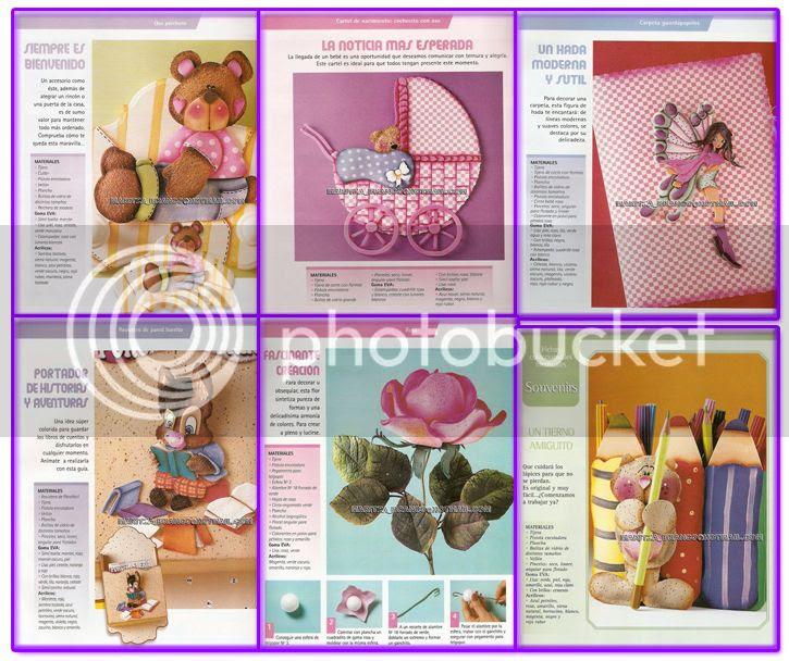 revistas manualidades baby shower paso a paso moldes diseños recordatorios tarjetas