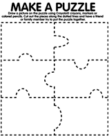 Make A Puzzle coloring page