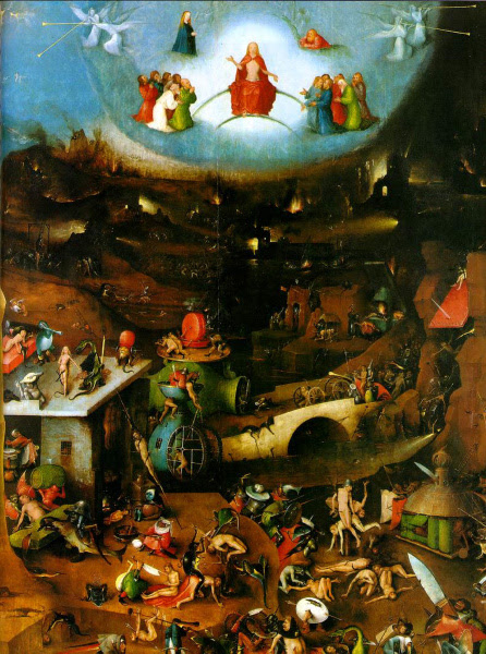 The Last Judgment, Central Panel - 1504, Oil on Panel - Hieronymus Bosch (van Aken, Jheronimus)  (1450-1516) - Akademie der bildenden Künste Wien