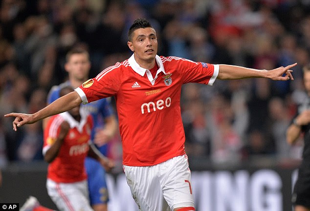 City bound: Oscar Cardozo could be a ready replacement for Carlos Tevez