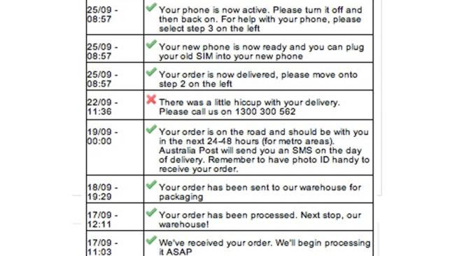 Despite never actually receiving the device, one customer's delivery records said he had
