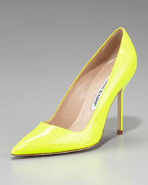 Manolo Blahnik Patent Point-Toe Pump