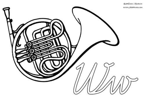 musikinstrumente zum ausdrucken  ausmalbilder