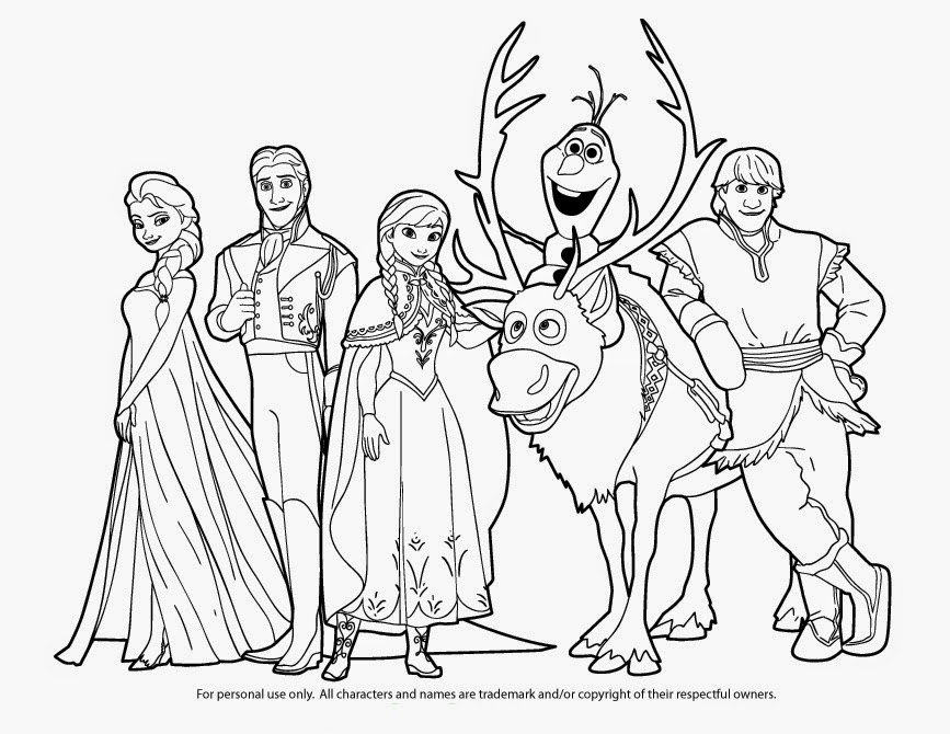 Anna And Kristoff Coloring Pages At Getcoloringscom Free
