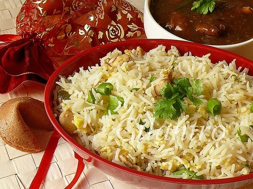 Indo-Chinese Chicken Fried Rice