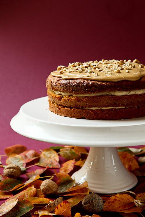 coffee walnut cake low cal!