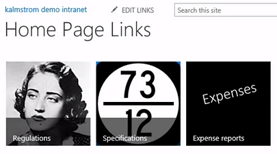 SharePoint promoted tile links