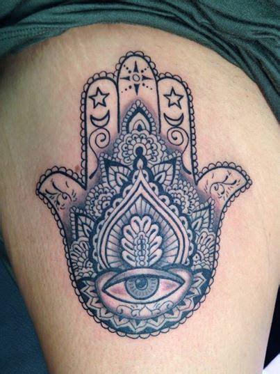 mendhi hamsa hand god tattoo hannah skalsky