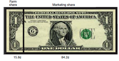 dollar bill with food expenditures
