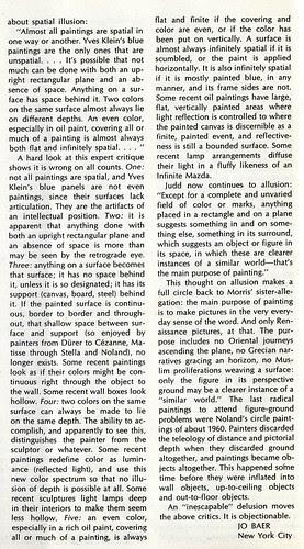 Jo Baer's letter to Artforum,  September 1967