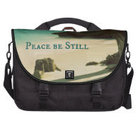 Peace Be Still Bible Verse with Ocean Laptop Computer Bag