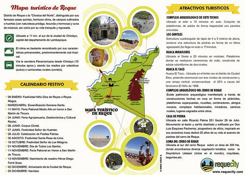 Mapa turístico de Reque