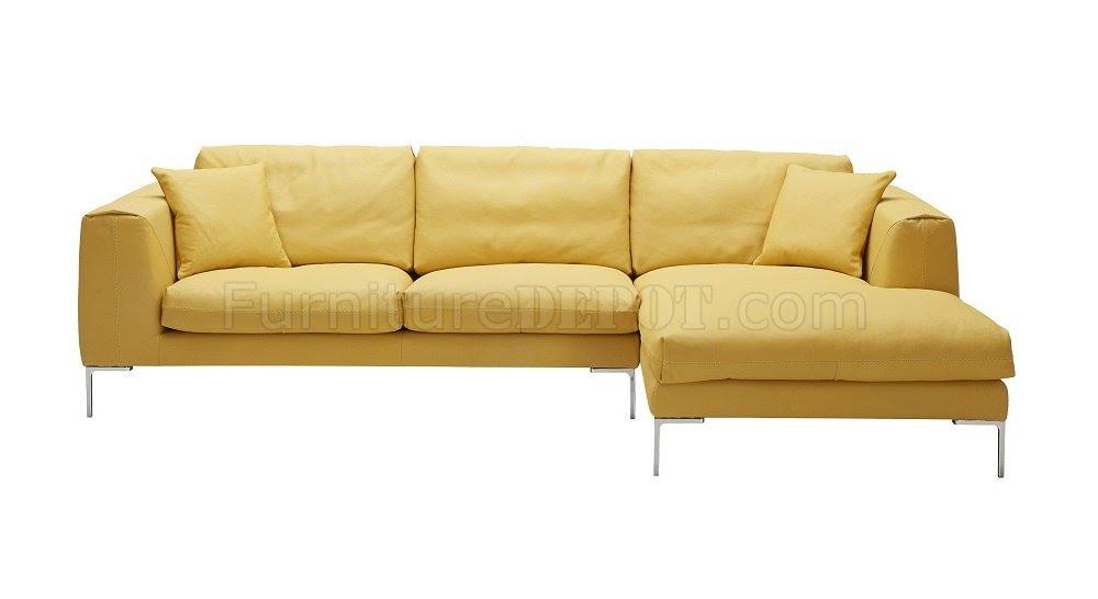 Yellow Sectional Sofa Modern Yellow Leather Sectional Sofa ...