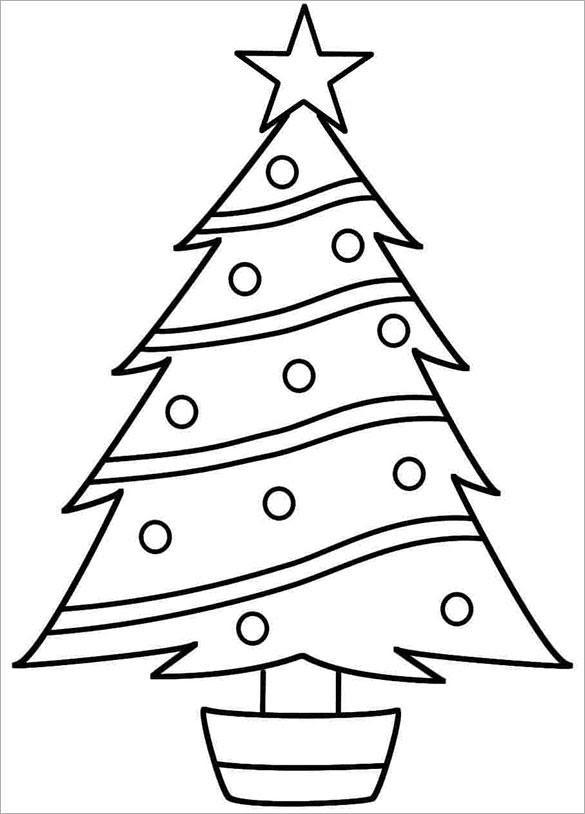 Christmas Tree Printable Template - Coloring Home