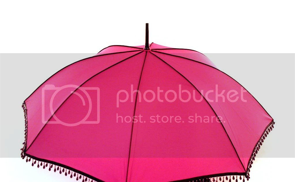 Hot Pink Embellished Umbrella, for Singing in The Rain