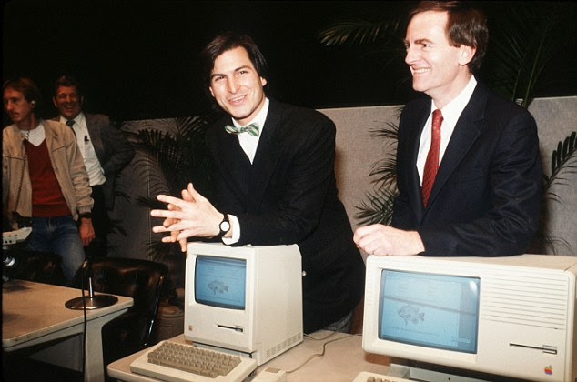 The 1984 Apple MacIntosh launched with a Superbowl commercial directed by Ridley Scott. The hit 'graphical' computer continued to sell well into the Eighties