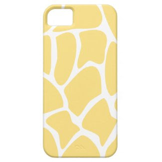 Giraffe Print Pattern in Yellow. iPhone 5 Covers