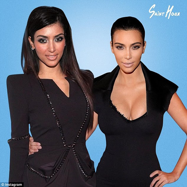 Kim Kardashian and Kylie Jenner images show how theyve changed over the years  Daily Mail Online