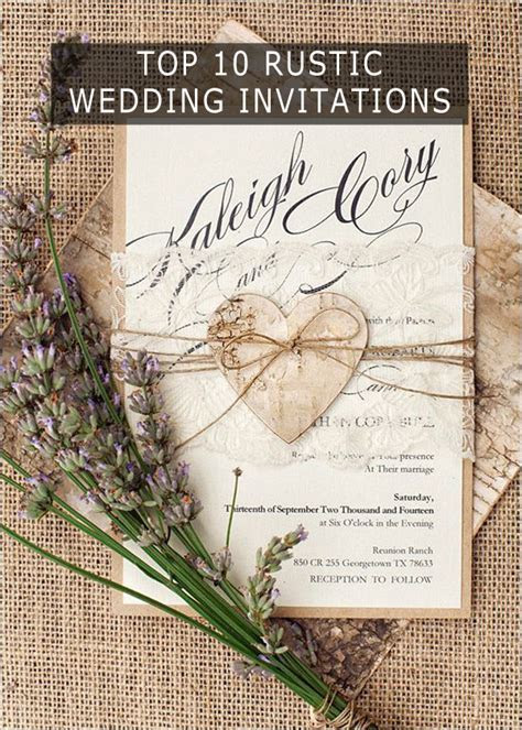 Rustic Wedding Invitation Cards   Laser Cut Wedding