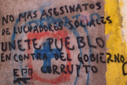 Una de las pintas del EPR en Oaxaca. Foto: Prometeo Lucero