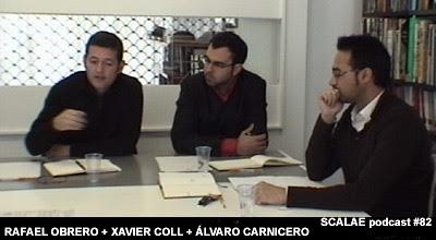 Rafael Obrero, Álvaro Carnicero y Xavier Coll, en el Centro de Enlace AE BCN para SCALAE