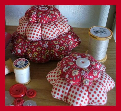 Sweet Pin Cushions from AuntDaisysCottage