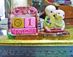 souvenir gypsum kalender abadi kura kura