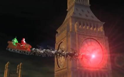 Santa passes Big Ben