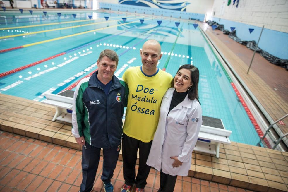 Com autorização da médica, Rodrigo é treinado por Walter Luis (Foto: Fabio Tito/G1)