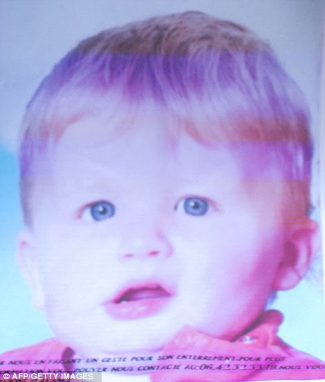 Christophe Champenois, 33, allegedly killed his three-year-old son Bastien (above) by locking him in a washing machine and turning it on