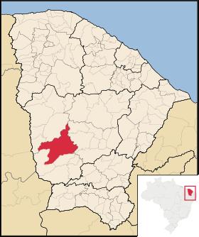 Localização de Tauá