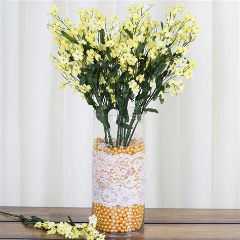 tall  bushes baby breath silk filler flowers