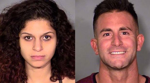Casal foi filmado por outros visitantes realizando ato sexual (Foto: Las Vegas Metropolitan Police Department)