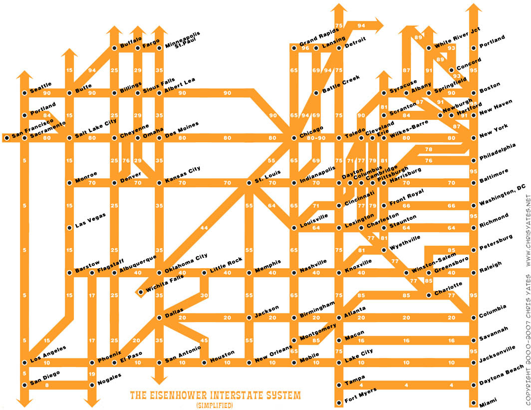 United States Interstate Highway Map US Wall Maps United States - Map of the us interstates