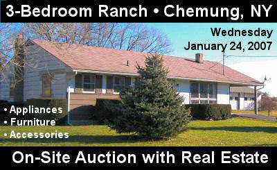 On_Site Auction with Real Estate: 874 Wyncoop Creek Rd, Chemung, NY