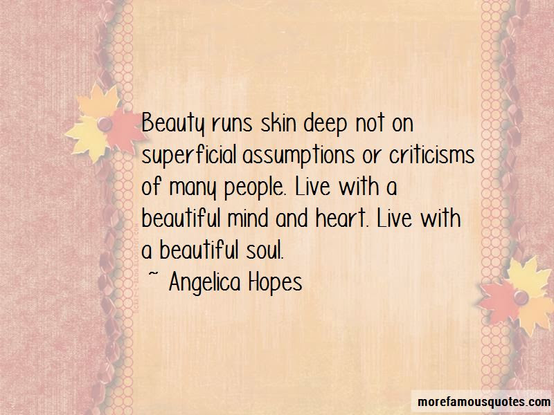 Quotes About Skin Deep Beauty Top 34 Skin Deep Beauty Quotes From