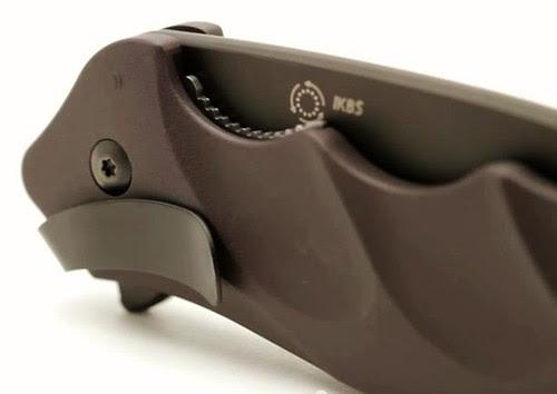 "Columbia River Ken Onion Foresight Folding 3.5"" AUS 8 Plain Black Blade, Aluminum Handles"
