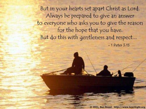 Inspirational illustration of 1 Peter 3:15