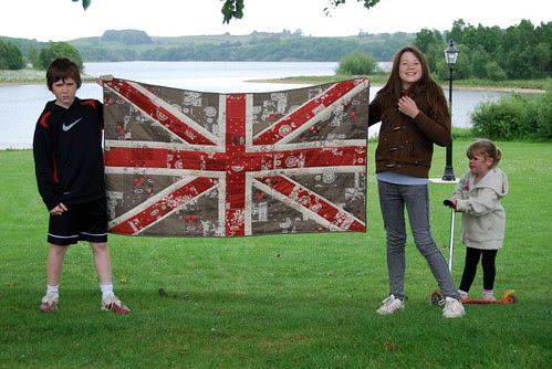 Shabby Chic Union Jack Wall Hanging by Lynne @ Lilys Quilts