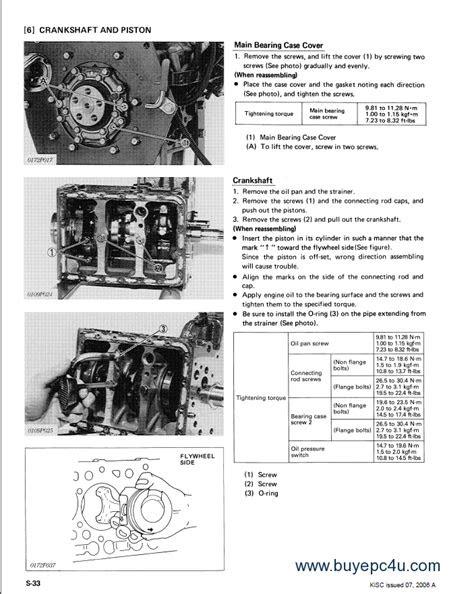 Kubota WG600-B Gasoline Engine Workshop Manual PDF