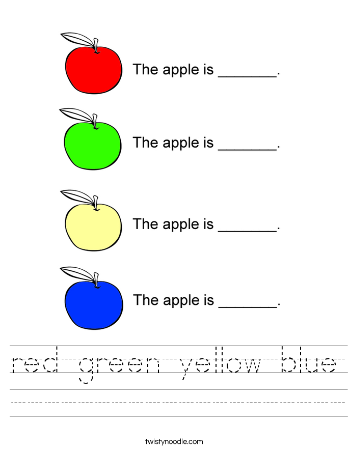 red green yellow blue 3_worksheet
