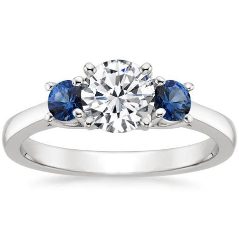 Unique Engagement Rings With Side Stones   Brilliant Earth
