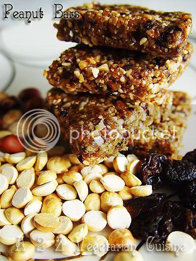 peanut raisin bars