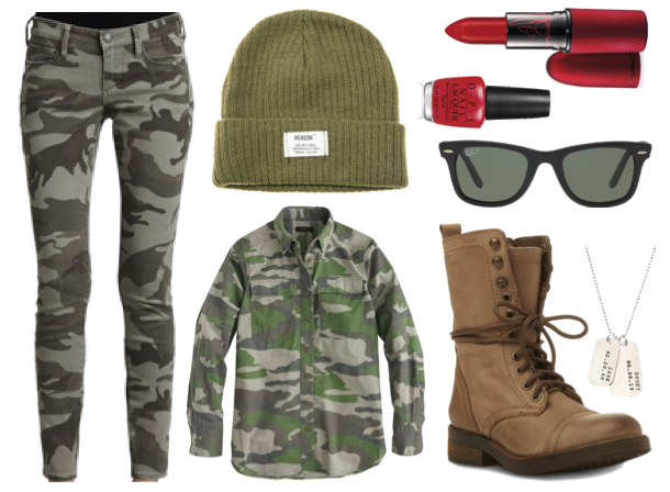 camo army girl denim halloween 3 Denim Inspired Outfits For Halloween