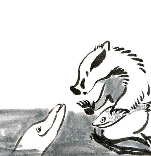 Badger Log by apple-pine