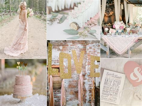Rustic Pink Wedding with Shabby Chic Details   Burnett's