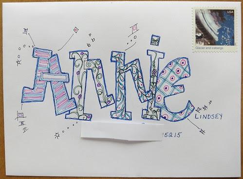 Fancy Mail art to Annie