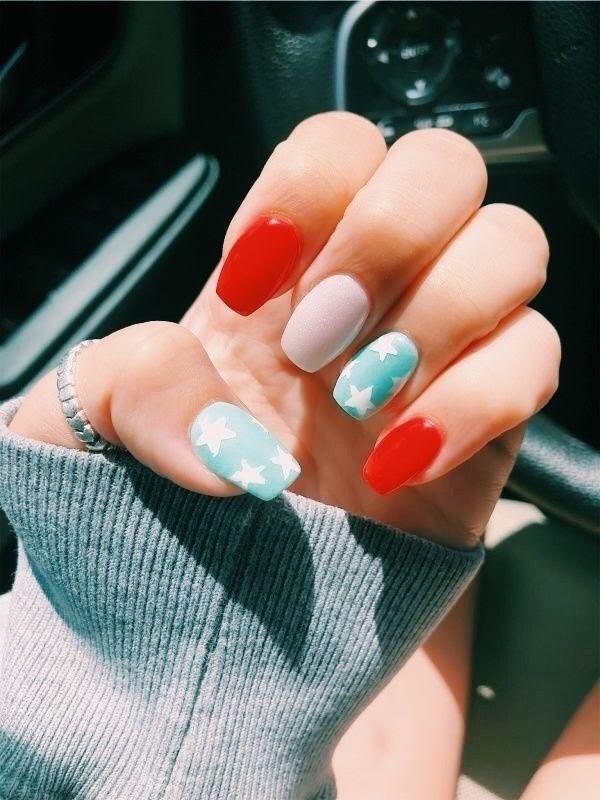 93 Cute Short Summer Acrylic Nails Ideas