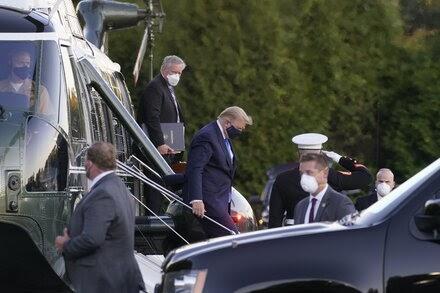 Trump Departs for Military Hospital After Positive Virus Test